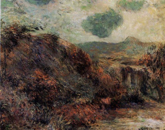 Mountain Landscape. Paul Gauguin