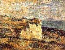 Cliff Near Dieppe. Paul Gauguin 1885.