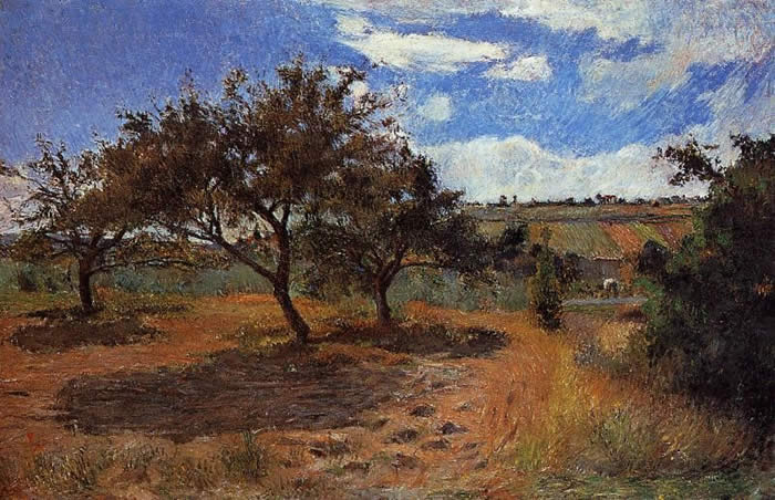 Apple-Trees in Blossom. Paul Gauguin 1879.