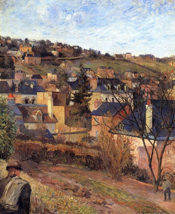 Blue Roofs, Rouen - Paul Gauguin