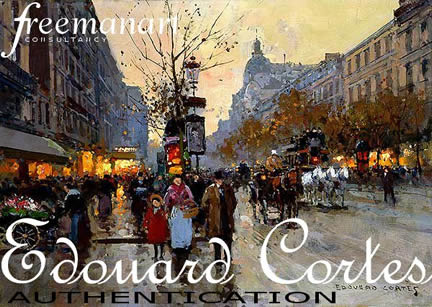 Edouard Cortes art authentication