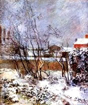 Snow, Rue Carcel - Paul Gauguin
