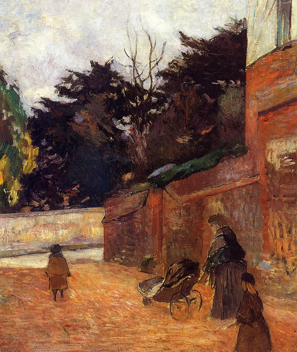 The Artist's Children, Impasse Malherne. Paul Gauguin
