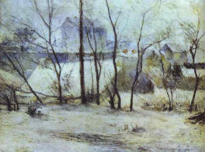 Snow At Vaugirard II - Paul Gauguin