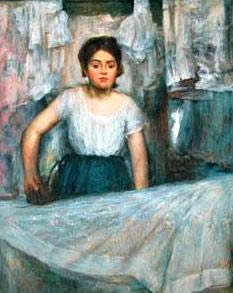 Degas Fake, woman ironing
