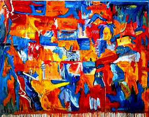 fake jasper johns painting