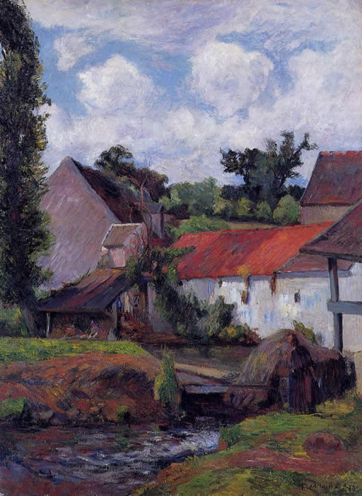Farm in Osny. Paul Gauguin