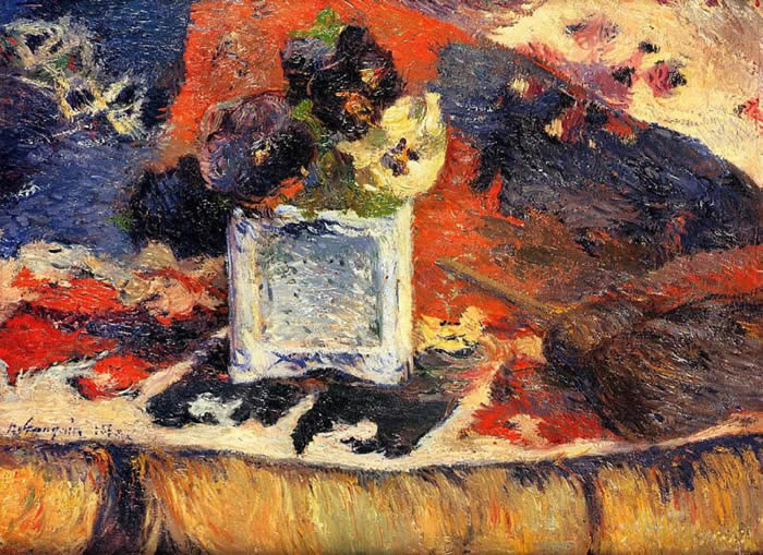 Flowers and Carpet 1- (also known as Pansies) gauguin