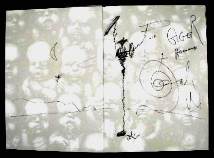 Dalis signed fronticpiece in Gigers book