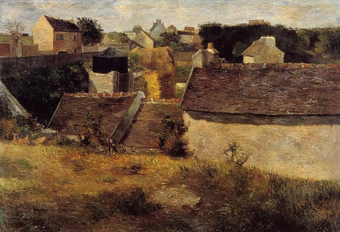 Houses in Vaugirard. Paul Gauguin