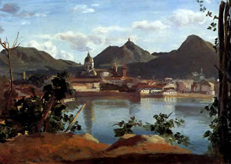 Lake Como authentic Corot painting