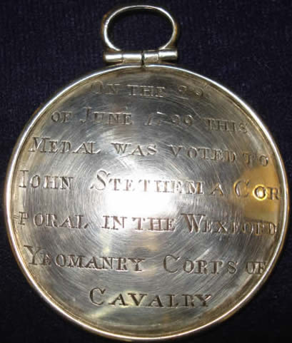Relief of Wexford town silver gallantry medal