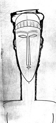 Modigliani Head of Caryatid, 1910-11