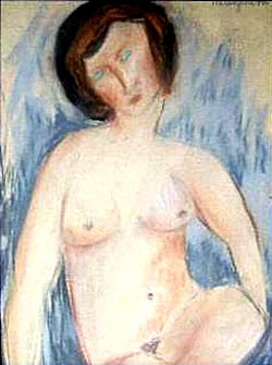Modigliani drawing fake nude