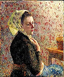 Camille Pissarro Portrait Woman wearing a green headscarf, 1893