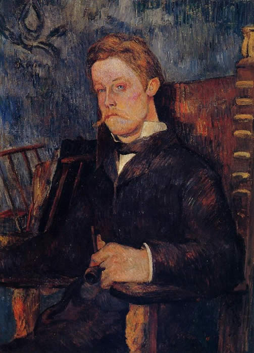 Portrait of a Seated Man - Paul Gauguin
