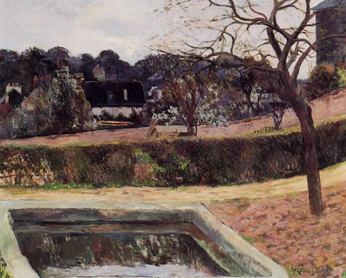 Square basin (the pond) Paul Gauguin