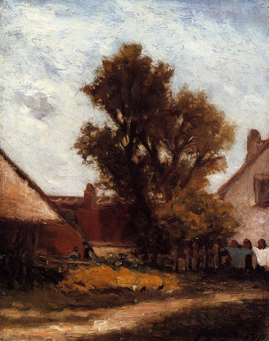 Tree in a farmyard. Paul Gauguin