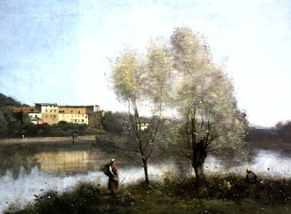 Corot authentication: Ville d'Avray Landscape.