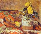 Mandolina and Flowers. Paul Gauguin
